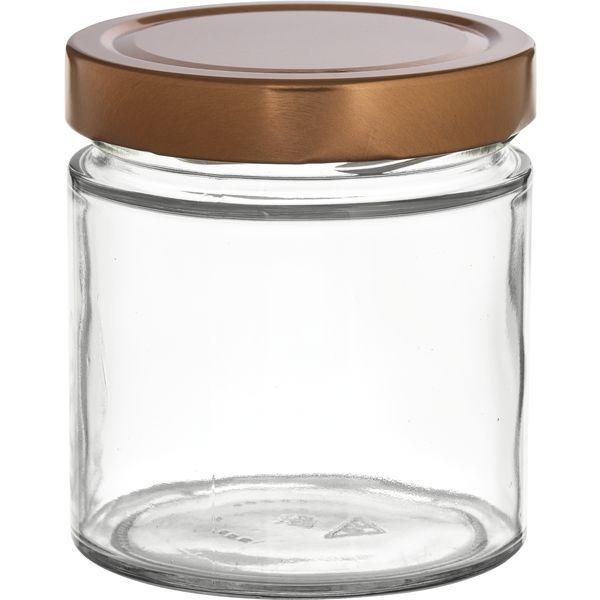 Vorratsglas 6-tlg., Kupfer-Look, Inhalt: 0,410 Liter