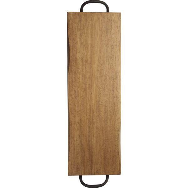 Holzbrett mit Griff, Höhe: 25 mm, Länge: 600 mm, Breite: 200 mm