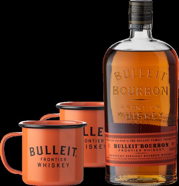 Bulleit Bourbon mit Mugs