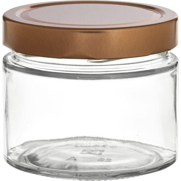 Vorratsglas 6-tlg., Kupfer-Look, Inhalt: 0,315 Liter