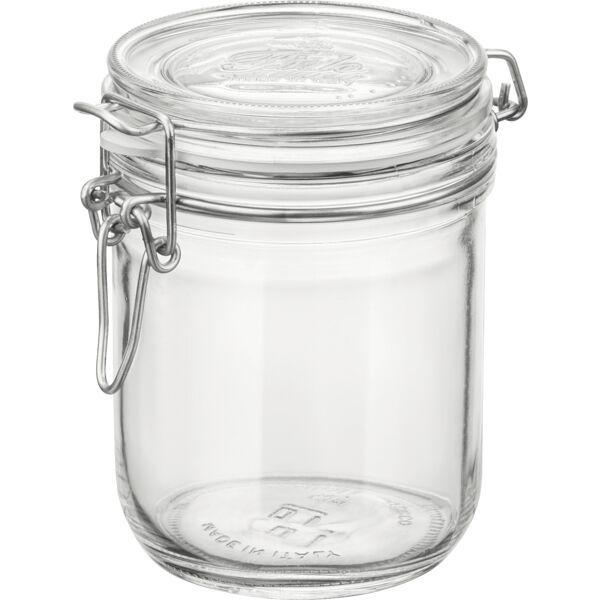 BORMIOLI ROCCO  Einkochglas 0,50 Liter, mit Bügelverschluss und Gummiring