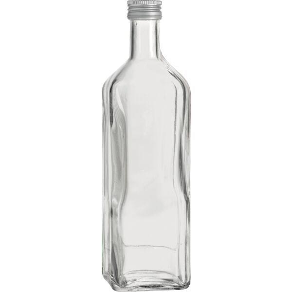 »Maraska« Flasche mit Schraubverschluss, 4-Kant, klar, Inhalt: 1,00 Liter