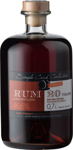 Single Cask Collection Rum Aldea 20 yo System Solera