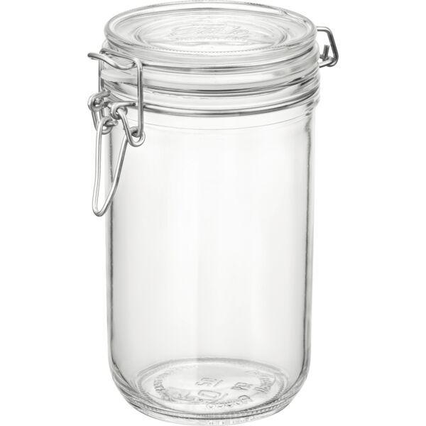 BORMIOLI ROCCO  Einkochglas 0,75 Liter, mit Bügelverschluss und Gummiring