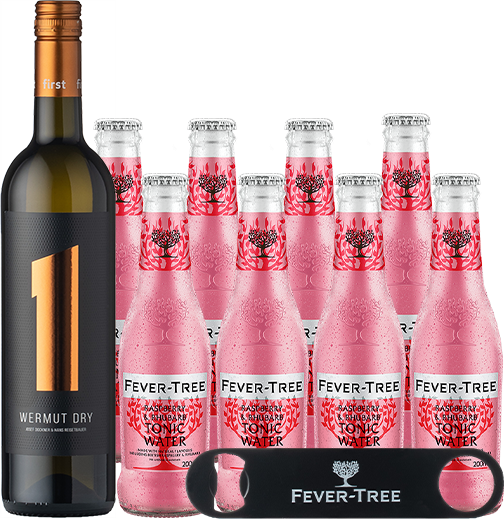 Wermut Dry & Fever-Tree Raspberry & Rhubarb Tonic Water