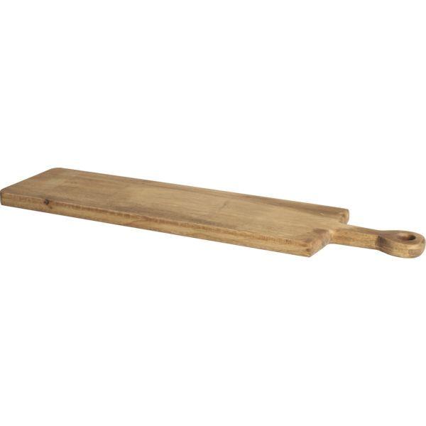Holzbrett mit Griff, Höhe: 25 mm, Länge: 760 mm, Breite: 200 mm