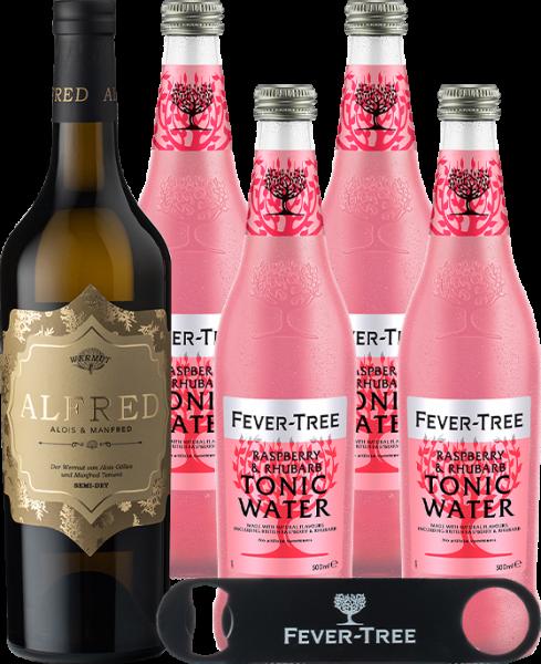 Alfred Semi-Dry & Fever-Tree Raspberry & Rhubarb Tonic Water 0,5lt