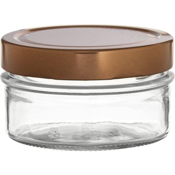 Vorratsglas 6-tlg., Kupfer-Look, Inhalt: 0,19 Liter