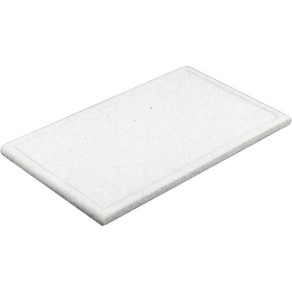 Schneidbrett mit Rille, mit Füßchen, GN 1_1, Höhe 20 mm, weiß