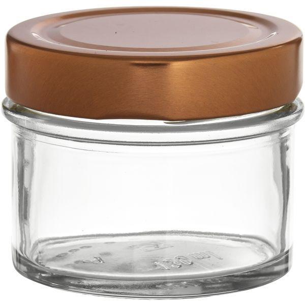 Vorratsglas 9-tlg., Kupfer-Look, Inhalt: 0,13 Liter