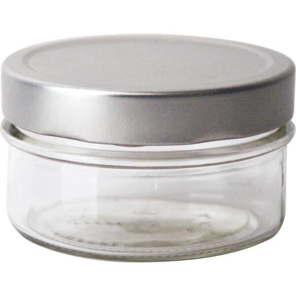 Vorratsglas 6-tlg., Silber-Look, Inhalt: 0,19 Liter