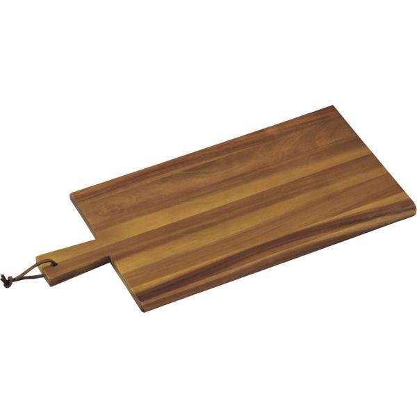 KESPER Schneidbrett mit Griff, Akazienholz, Länge: 450 mm
