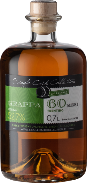 Single Cask Collection Grappa  Reserva 60 Mesi, 2nd Edition